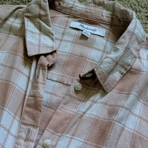 Madewell Tops - Madewell soft pink oversized button down shirt